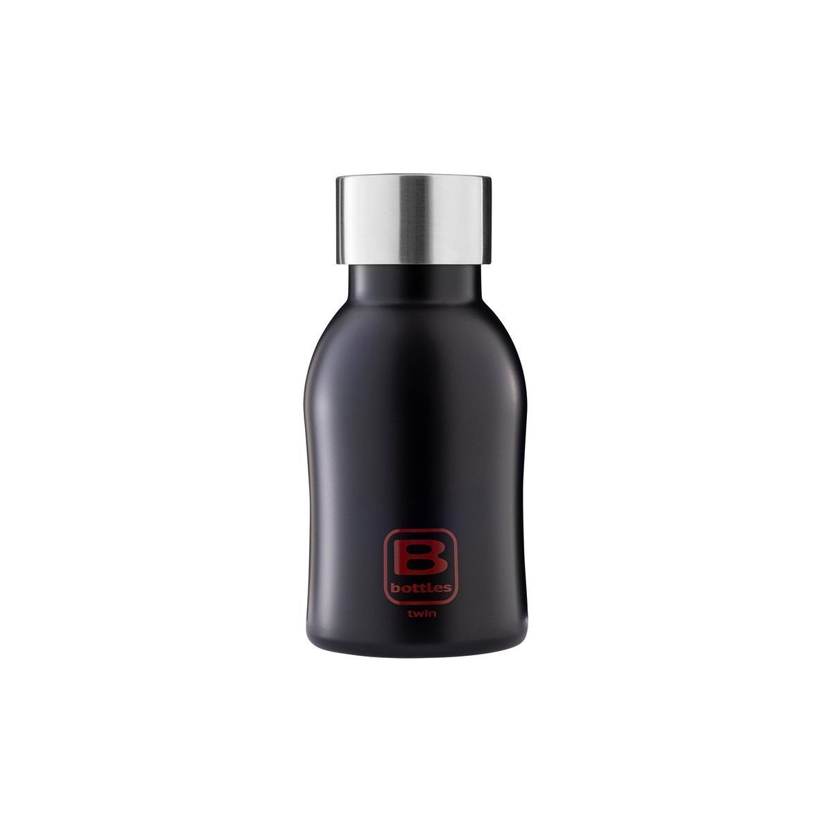 B Bottles Twin - Nero Opaco - 250 ml - Bottiglia Termica a doppia parete in acciaio inox 18/10