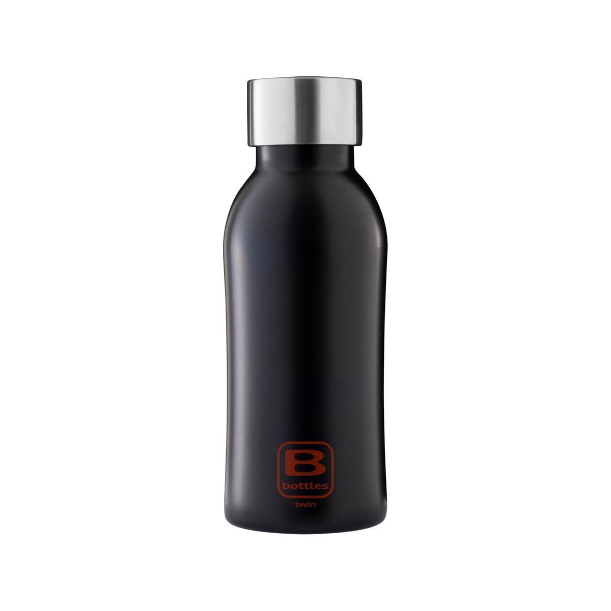 B Bottles Twin - Nero Opaco - 350 ml - Bottiglia Termica a doppia parete in acciaio inox 18/10
