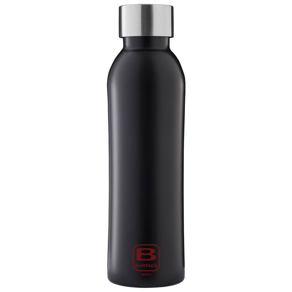 B Bottles Twin - Nero Opaco - 500 ml - Bottiglia Termica a doppia parete in acciaio inox 18/10