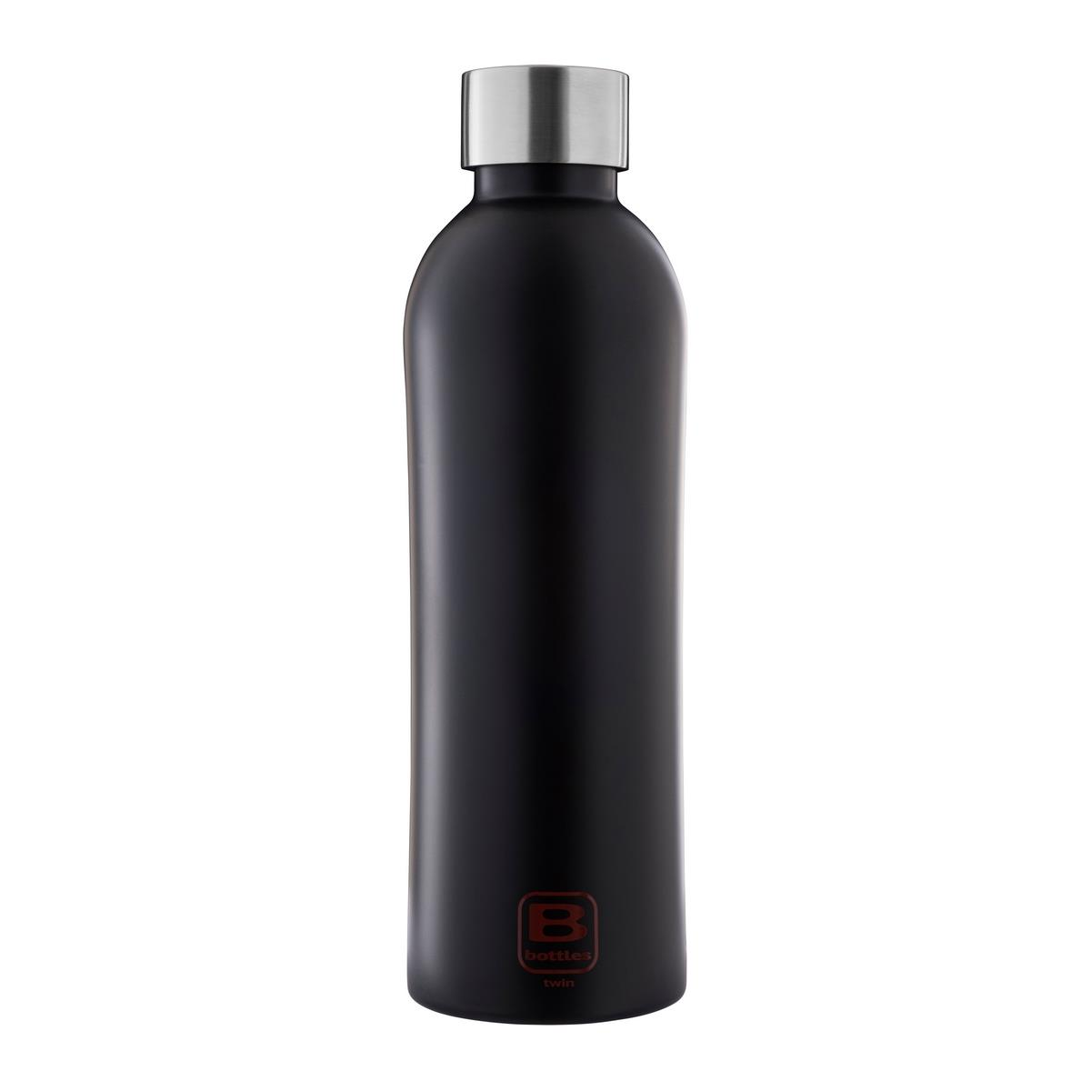 B Bottles Twin - Nero Opaco - 800 ml - Bottiglia Termica a doppia parete in acciaio inox 18/10