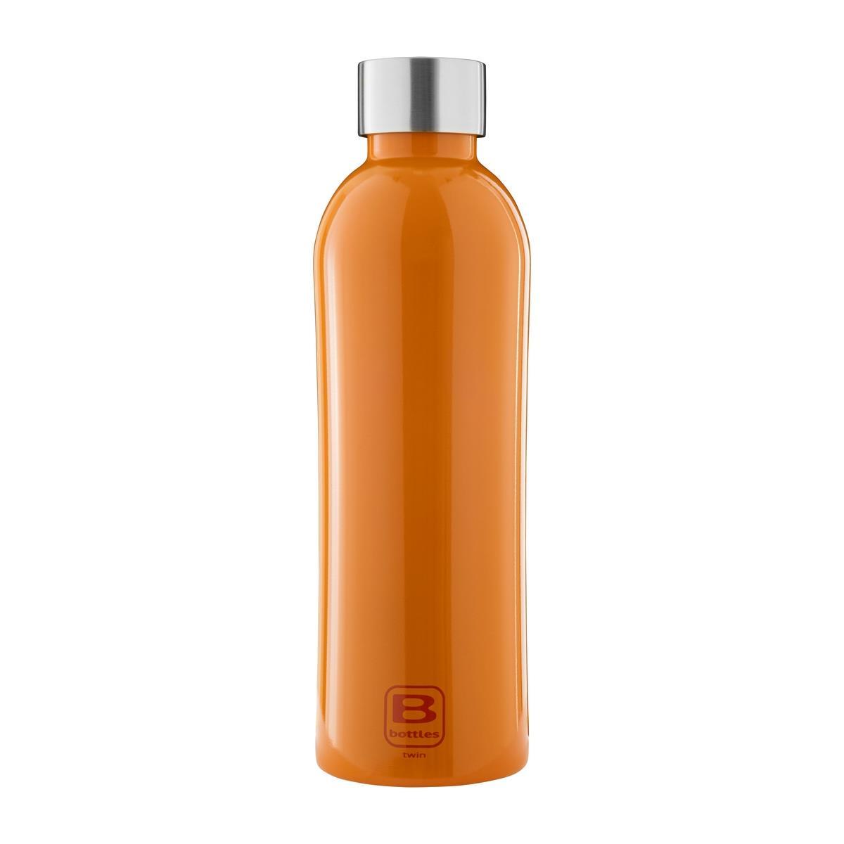 B Bottles Twin - Orange Lucido - 800 ml - Bottiglia Termica a doppia parete in acciaio inox 18/10