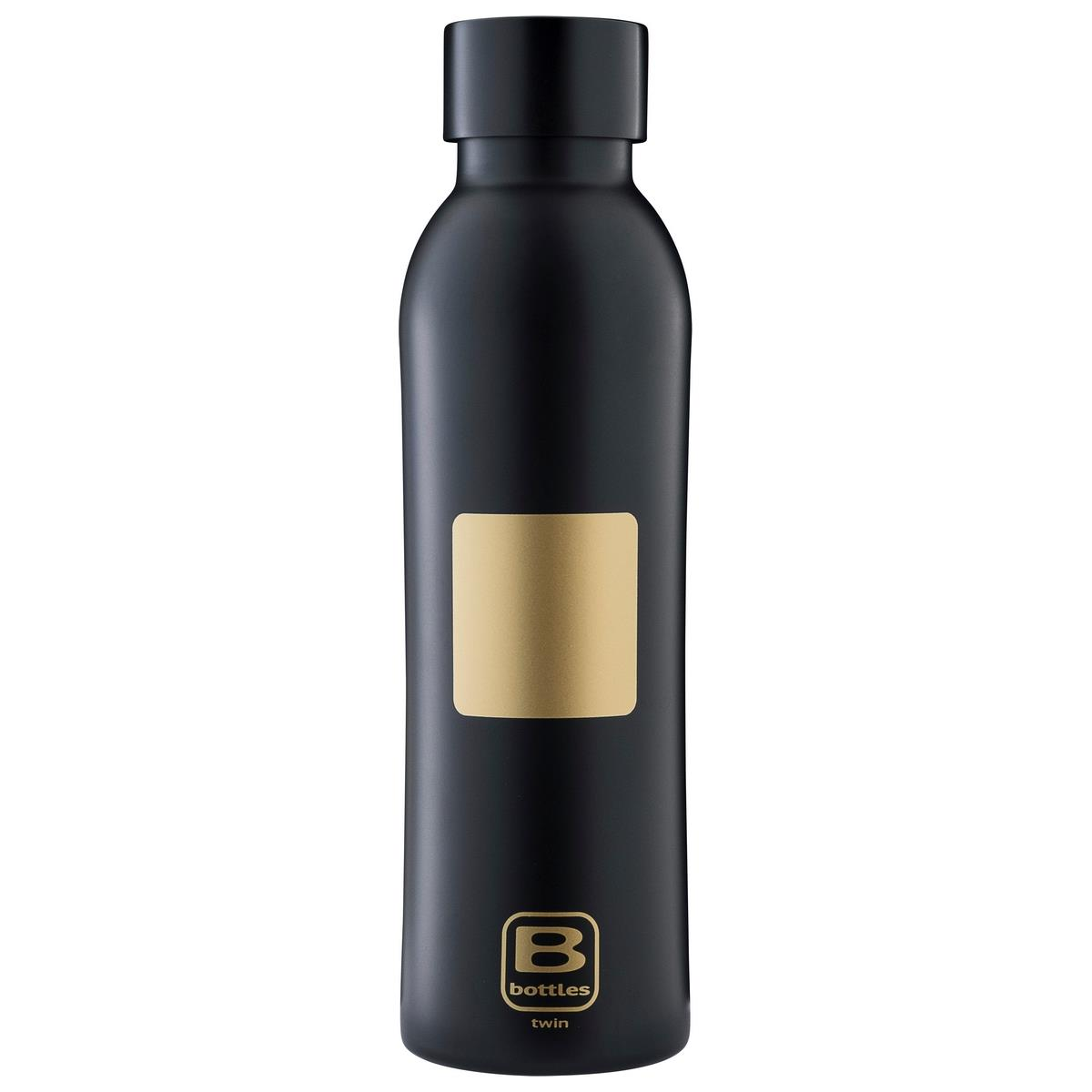 B Bottles Twin - Yellow Gold Brushed - 350 ml - Bottiglia Termica doppia parete in acc. inox 18/10