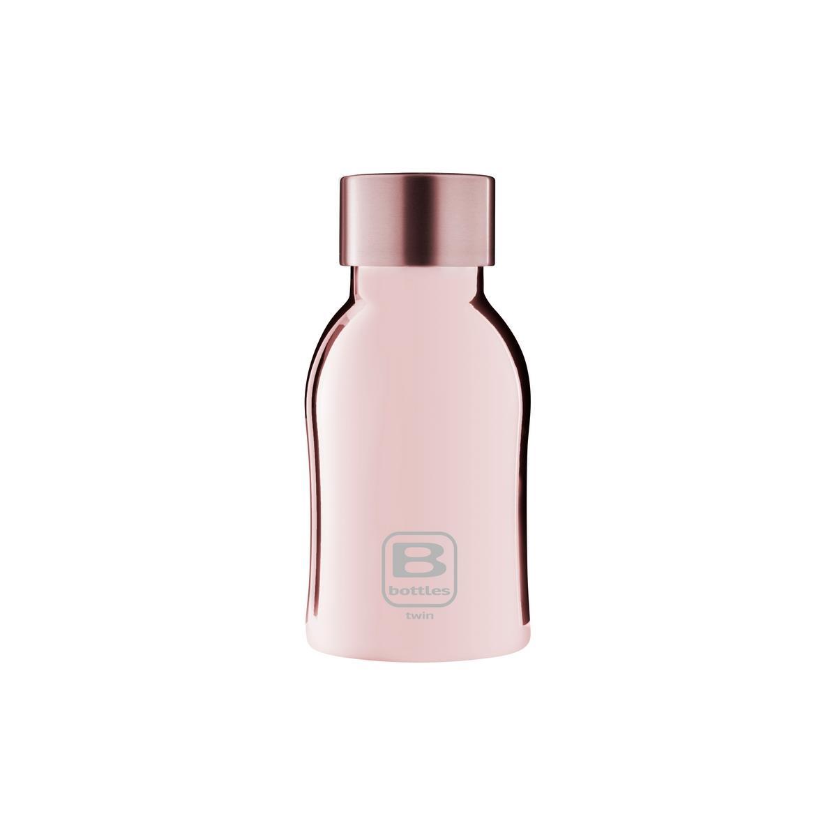 B Bottles Twin - Rose Gold Lux - 250 ml - Bottiglia Termica a doppia parete in acciaio inox 18/10
