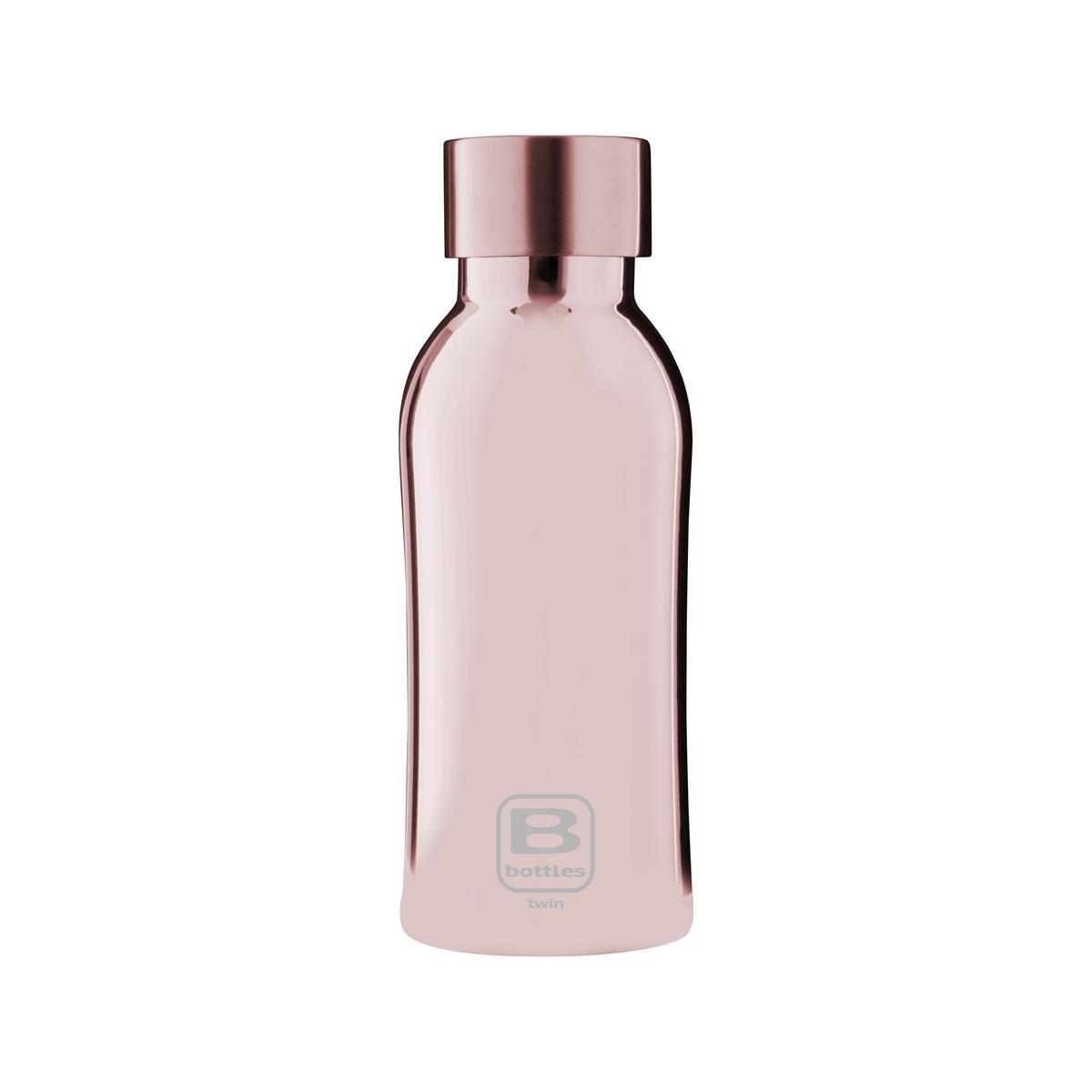 B Bottles Twin - Rose Gold Lux - 350 ml - Bottiglia Termica a doppia parete in acciaio inox 18/10