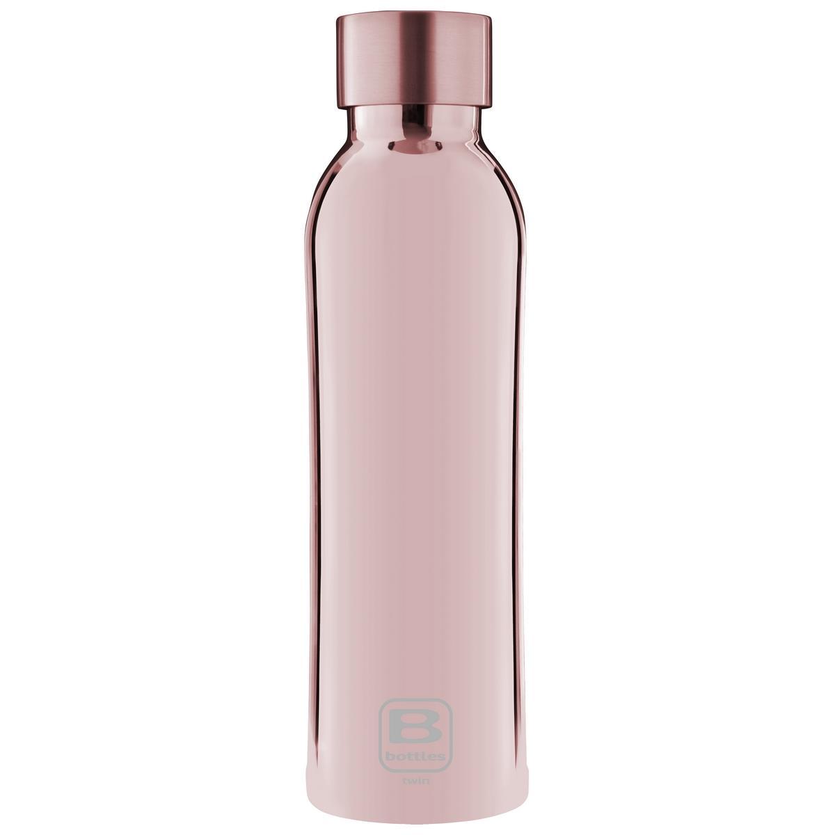 B Bottles Twin - Rose Gold Lux - 500 ml - Bottiglia Termica a doppia parete in acciaio inox 18/10