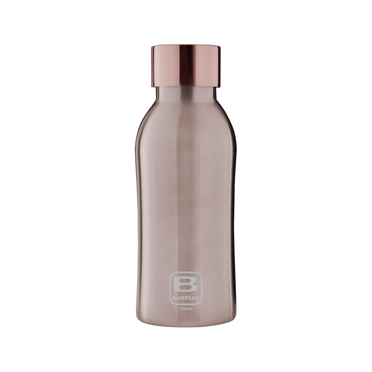 B Bottles Twin - Rose Gold Brushed - 350 ml - Bottiglia Termica a doppia parete in acc. inox 18/10