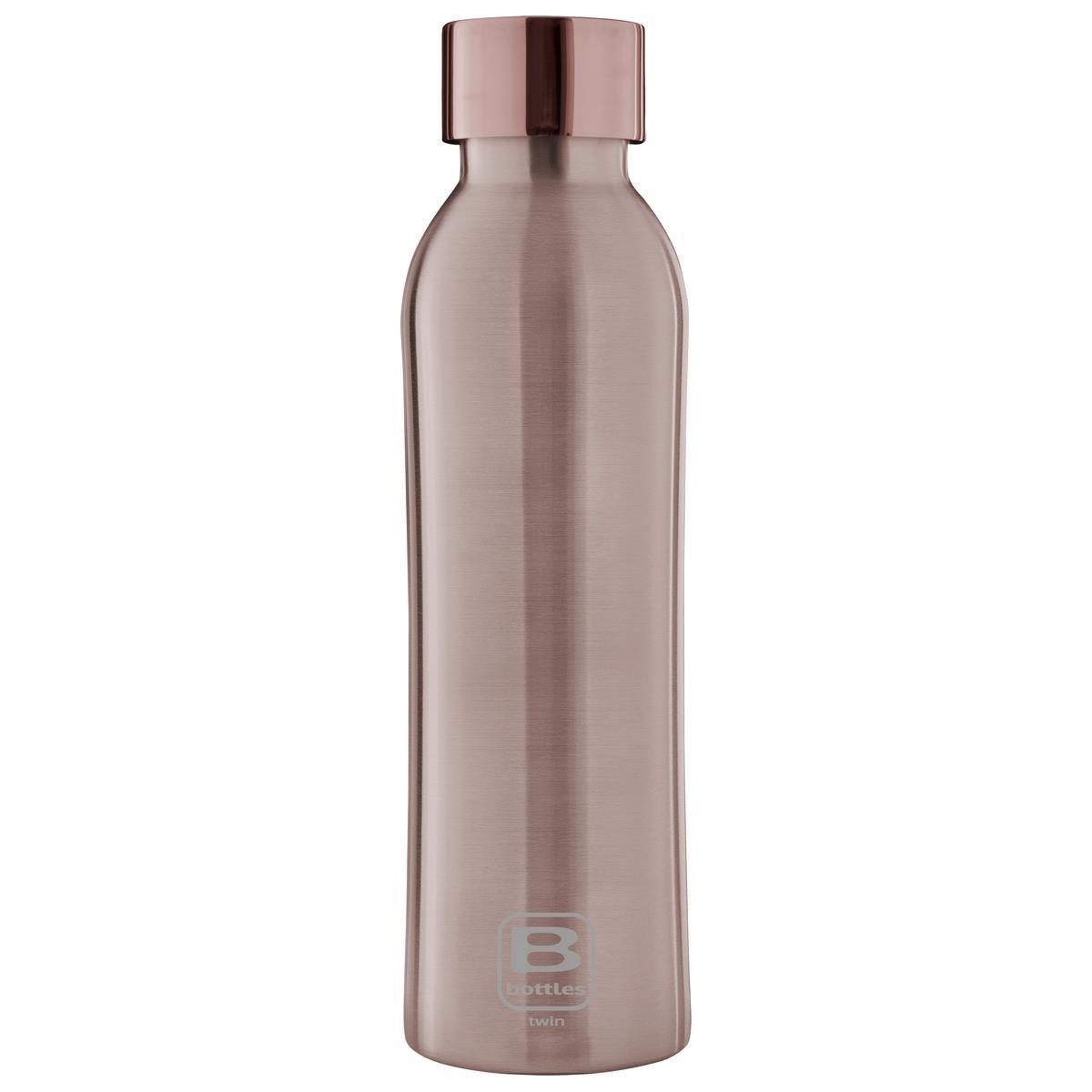 B Bottles Twin - Rose Gold Brushed - 500 ml - Bottiglia Termica a doppia parete in acc. inox 18/10
