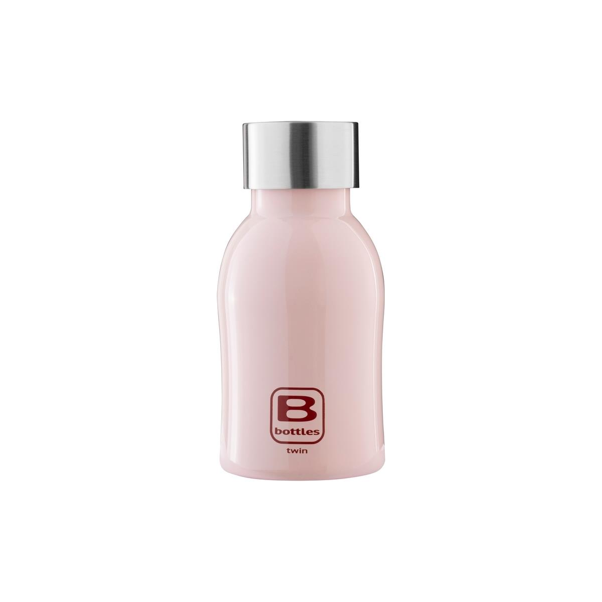 B Bottles Twin - Pink - 250 ml - Bottiglia Termica a doppia parete in acciaio inox 18/10