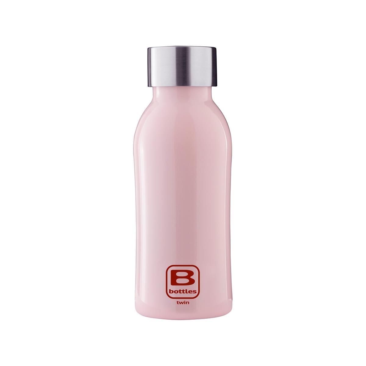 B Bottles Twin - Pink - 350 ml - Bottiglia Termica a doppia parete in acciaio inox 18/10