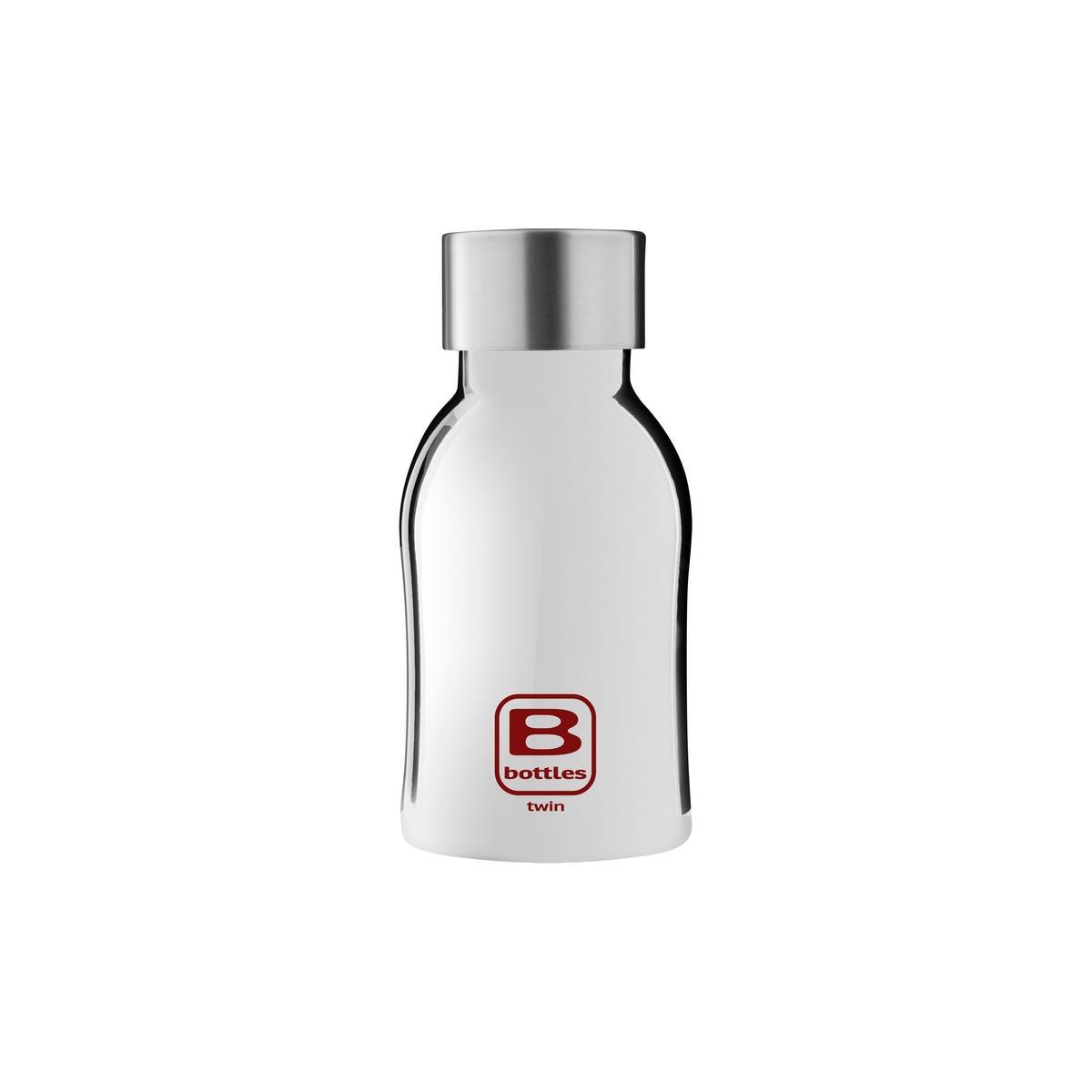 B Bottles Twin - Silver Lux - 250 ml - Bottiglia Termica a doppia parete in acciaio inox 18/10