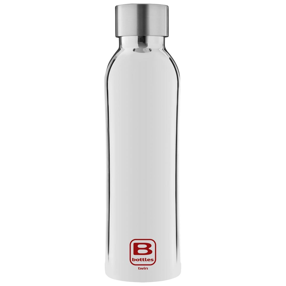 B Bottles Twin - Silver Lux - 500 ml - Bottiglia Termica a doppia parete in acciaio inox 18/10