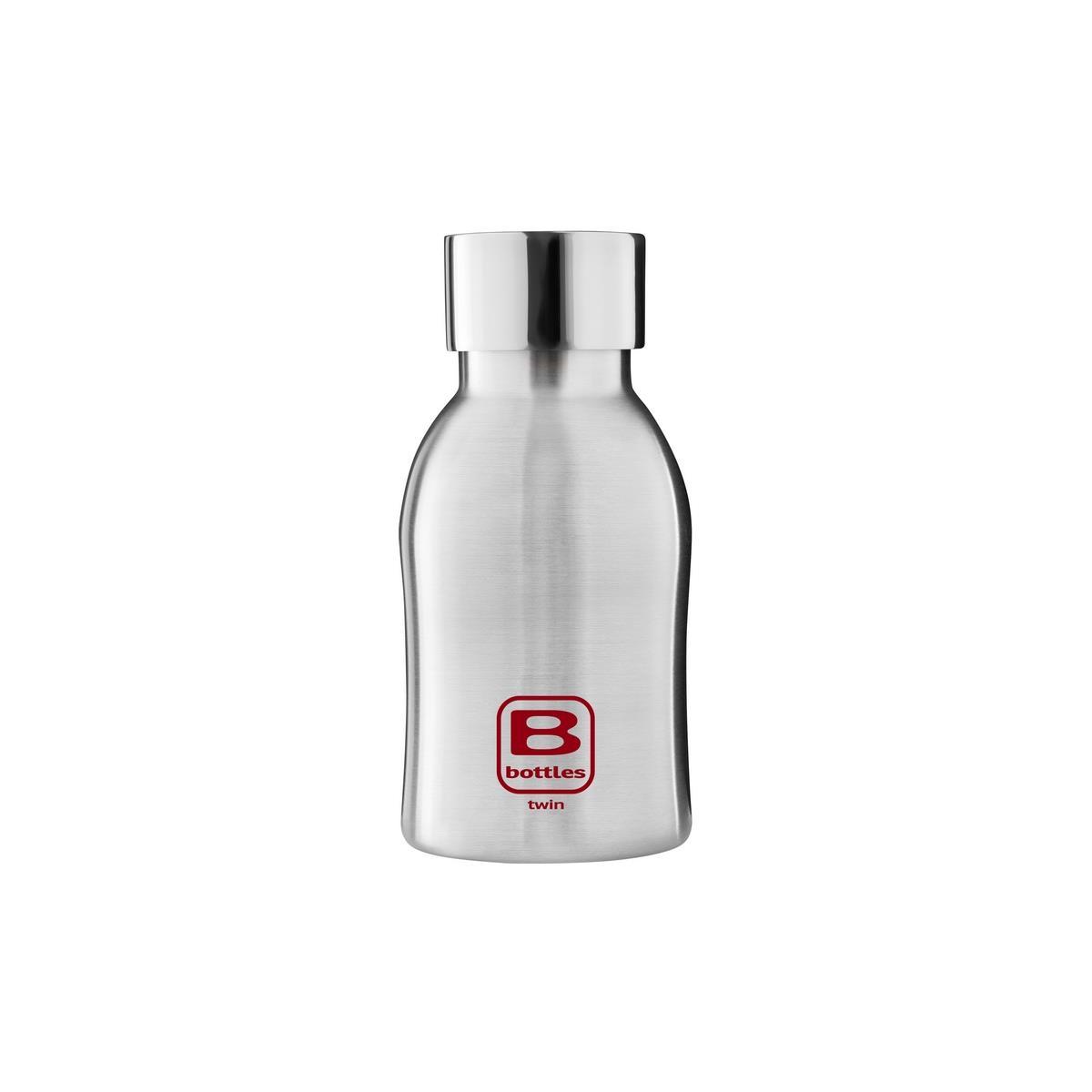 B Bottles Twin - Steel Brushed - 250 ml - Bottiglia Termica a doppia parete in acciaio inox 18/10