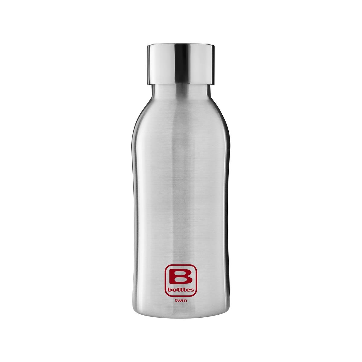 B Bottles Twin - Steel Brushed - 350 ml - Bottiglia Termica a doppia parete in acciaio inox 18/10