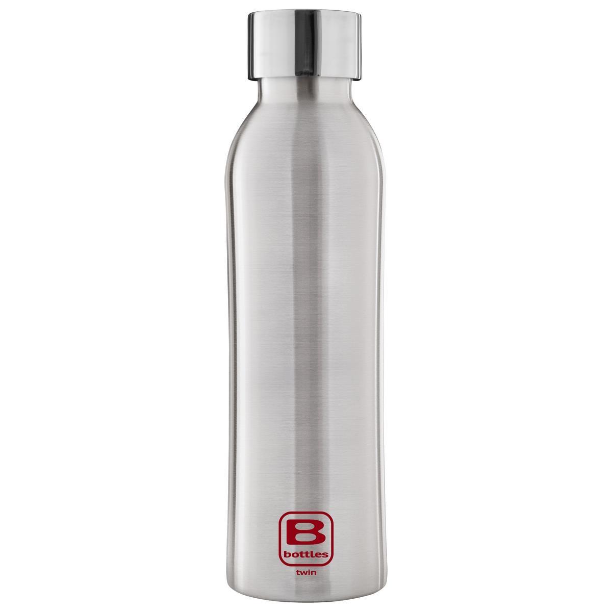 B Bottles Twin - Steel Brushed - 500 ml - Bottiglia Termica a doppia parete in acciaio inox 18/10