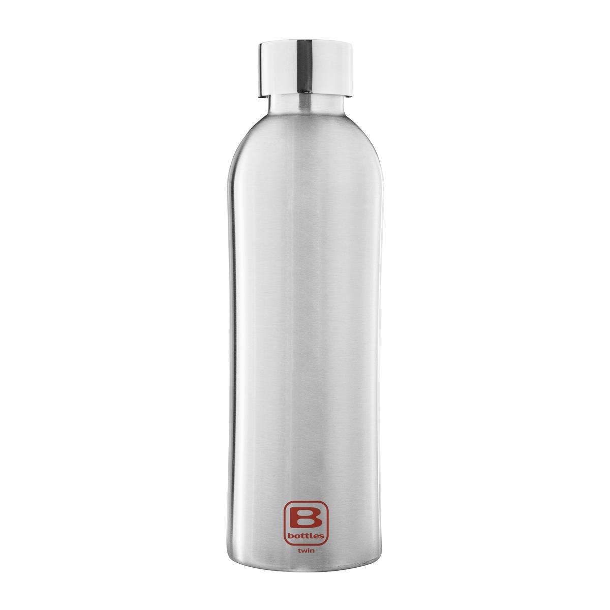 B Bottles Twin - Steel Brushed - 800 ml - Bottiglia Termica a doppia parete in acciaio inox 18/10
