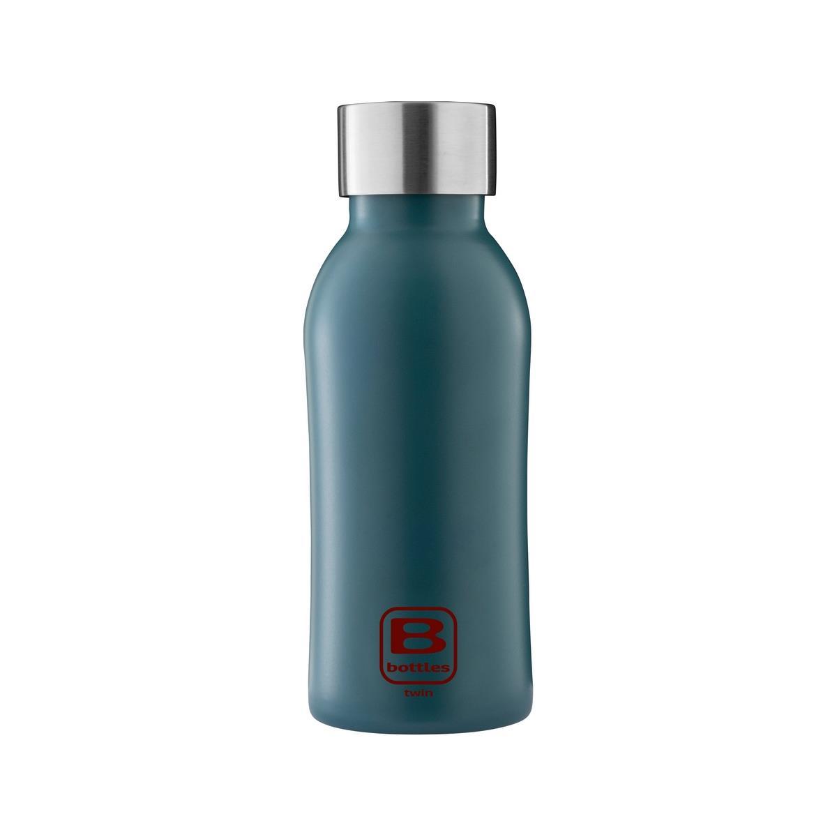B Bottles Twin - Teal Blue - 350 ml - Bottiglia Termica a doppia parete in acciaio inox 18/10