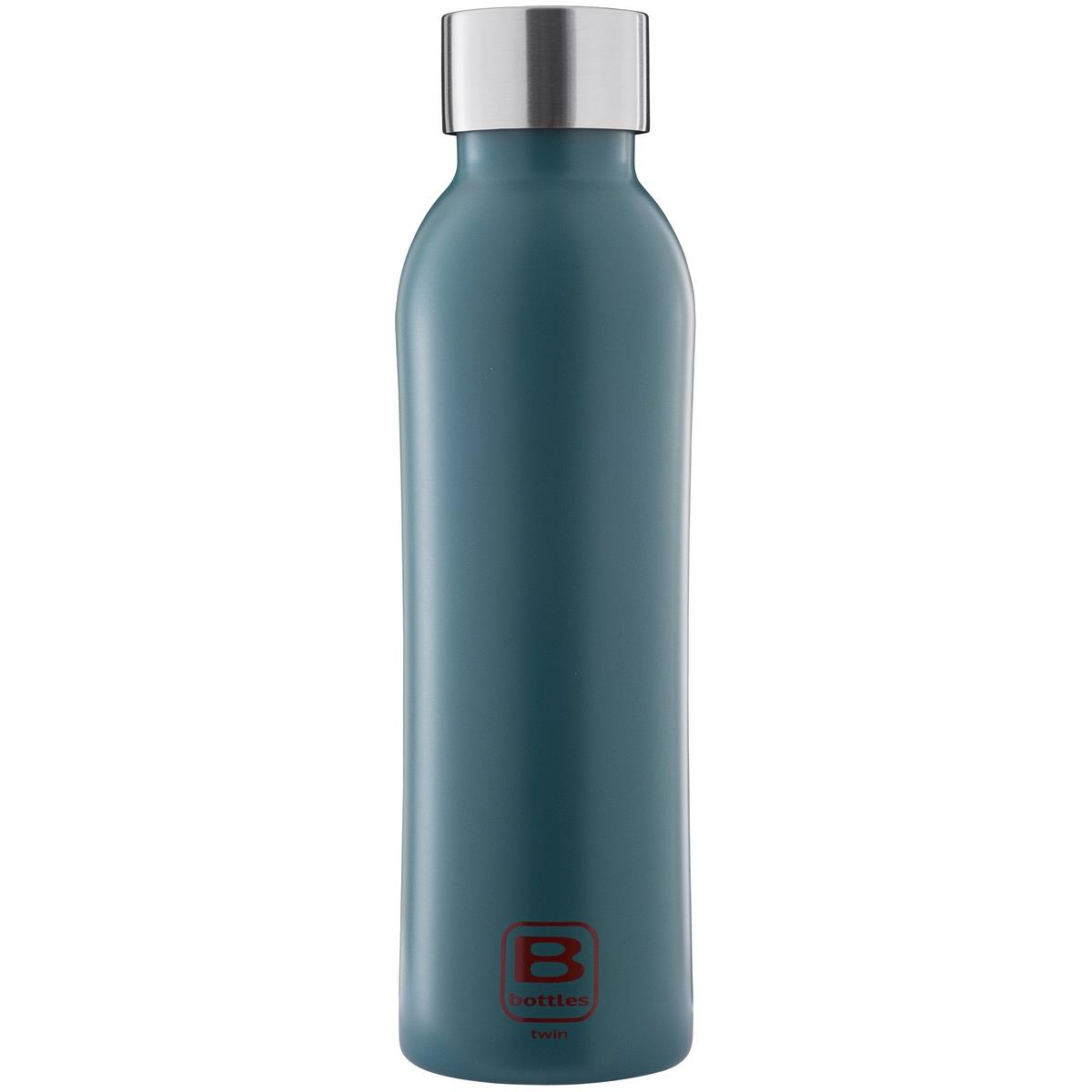 B Bottles Twin - Teal Blue - 500 ml - Bottiglia Termica a doppia parete in acciaio inox 18/10