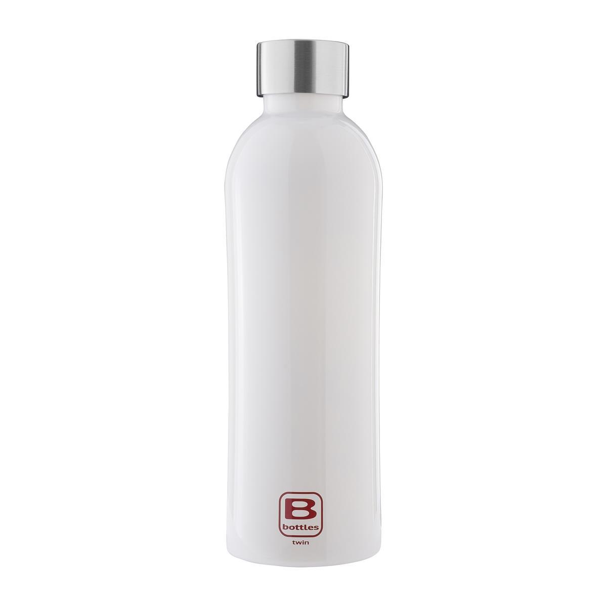 B Bottles Twin - Bianco Bright - 800 ml - Bottiglia Termica a doppia parete in acciaio inox 18/10