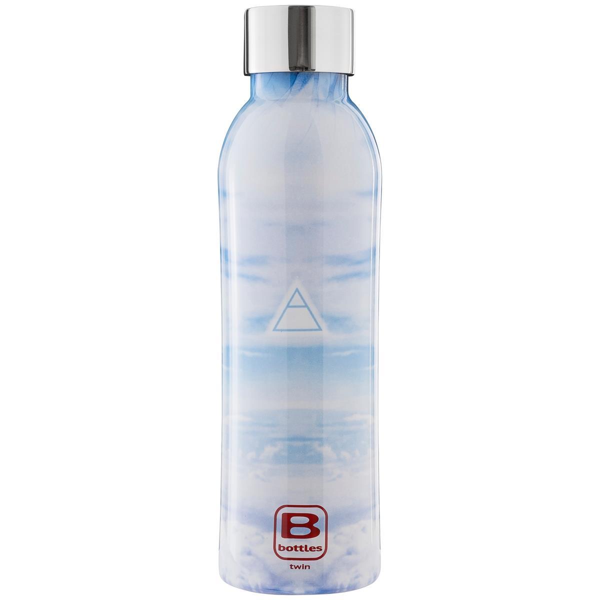B Bottles Twin - Aria Element - 500 ml - Bottiglia Termica a doppia parete in acciaio inox 18/10