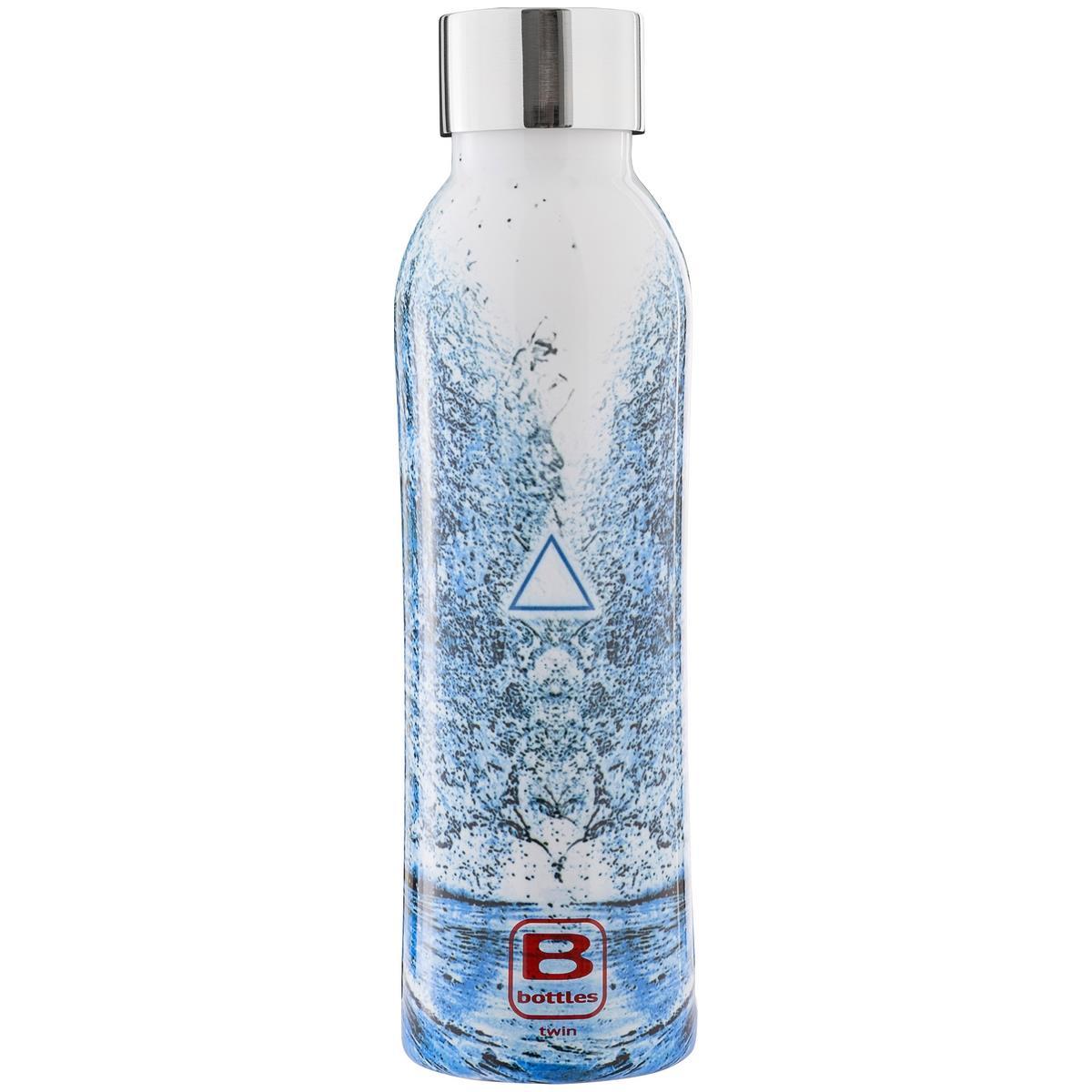B Bottles Twin - Acqua Element - 500 ml - Bottiglia Termica a doppia parete in acciaio inox 18/10