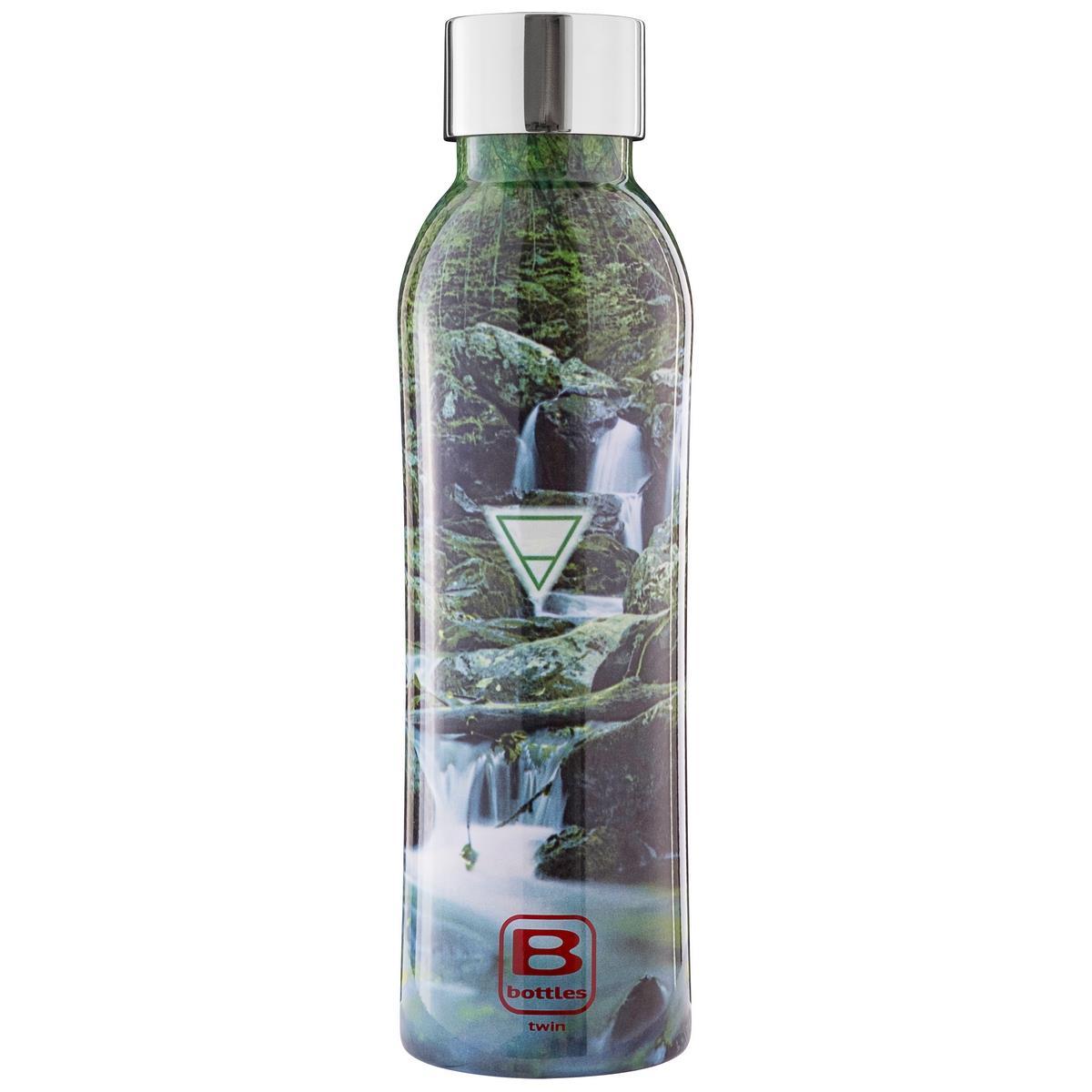 B Bottles Twin - Terra Element - 500 ml - Bottiglia Termica a doppia parete in acciaio inox 18/10