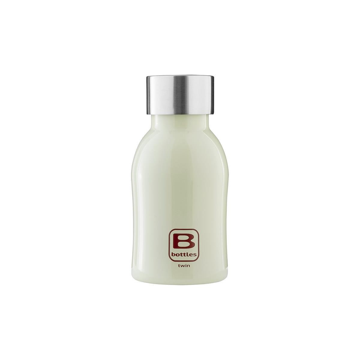 B Bottles Twin - Light Green - 250 ml - Bottiglia Termica a doppia parete in acciaio inox 18/10