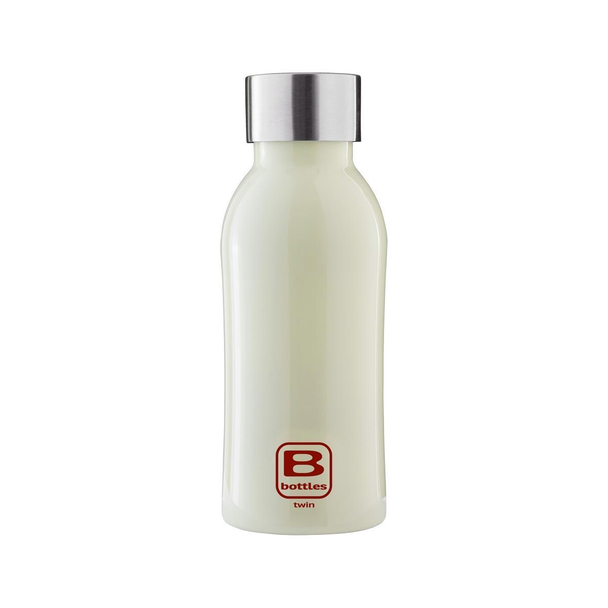 B Bottles Twin - Light Green - 350 ml - Bottiglia Termica a doppia parete in acciaio inox 18/10