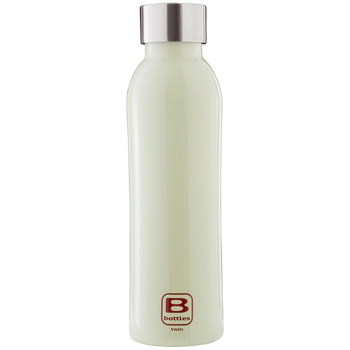 B Bottles Twin - Light Green - 500 ml - Bottiglia Termica a doppia parete in acciaio inox 18/10