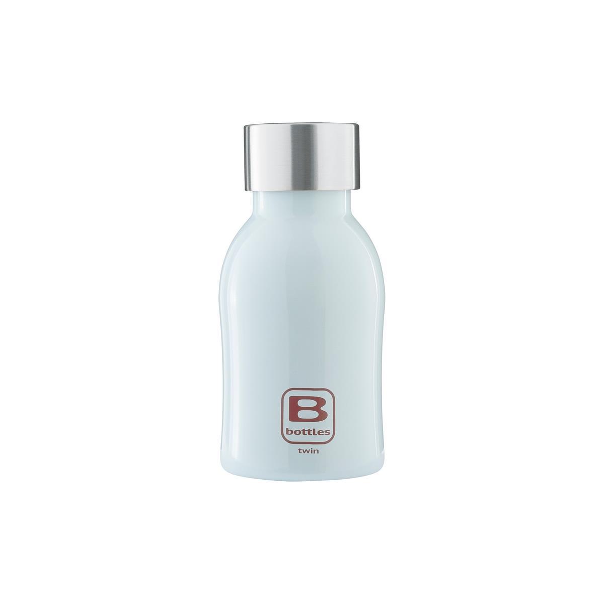 B Bottles Twin - Light Blue - 250 ml - Bottiglia Termica a doppia parete in acciaio inox 18/10