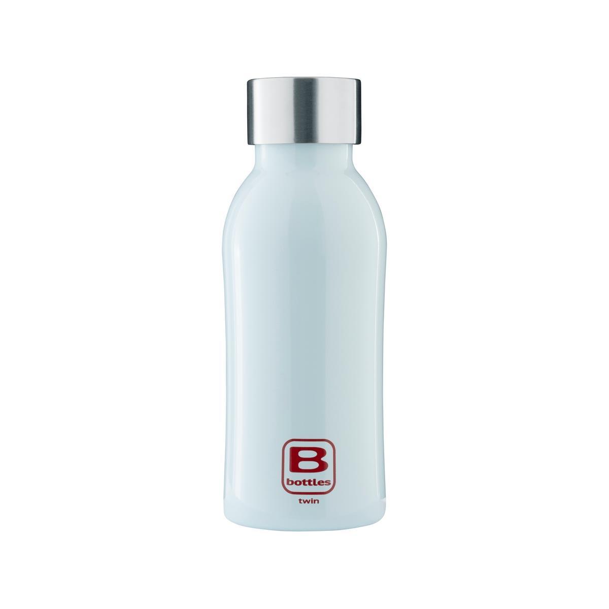 B Bottles Twin - Light Blue - 350 ml - Bottiglia Termica a doppia parete in acciaio inox 18/10
