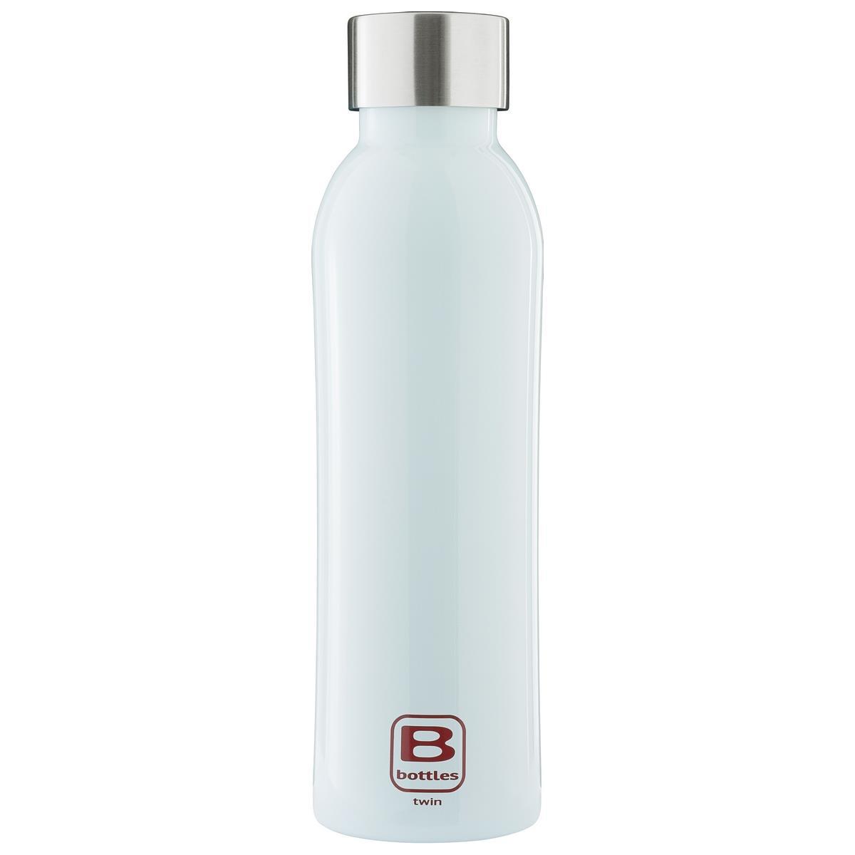 B Bottles Twin - Light Blue - 500 ml - Bottiglia Termica a doppia parete in acciaio inox 18/10