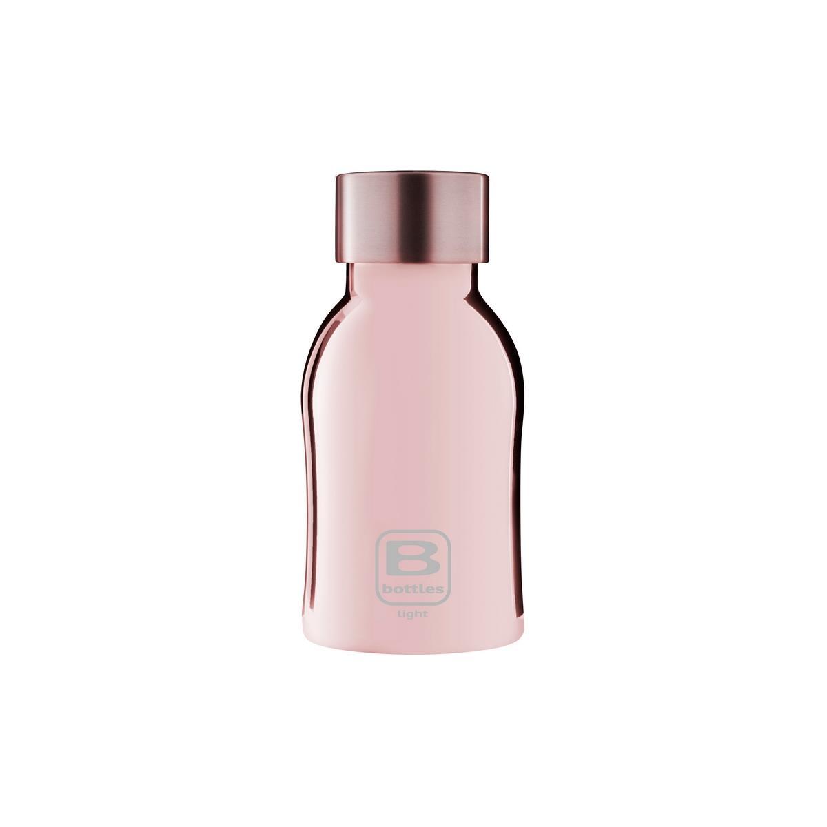 B Bottles Light - Rose Gold Lux - 350 ml - Bottiglia in acciaio inox 18/10 ultra leggera e compatta