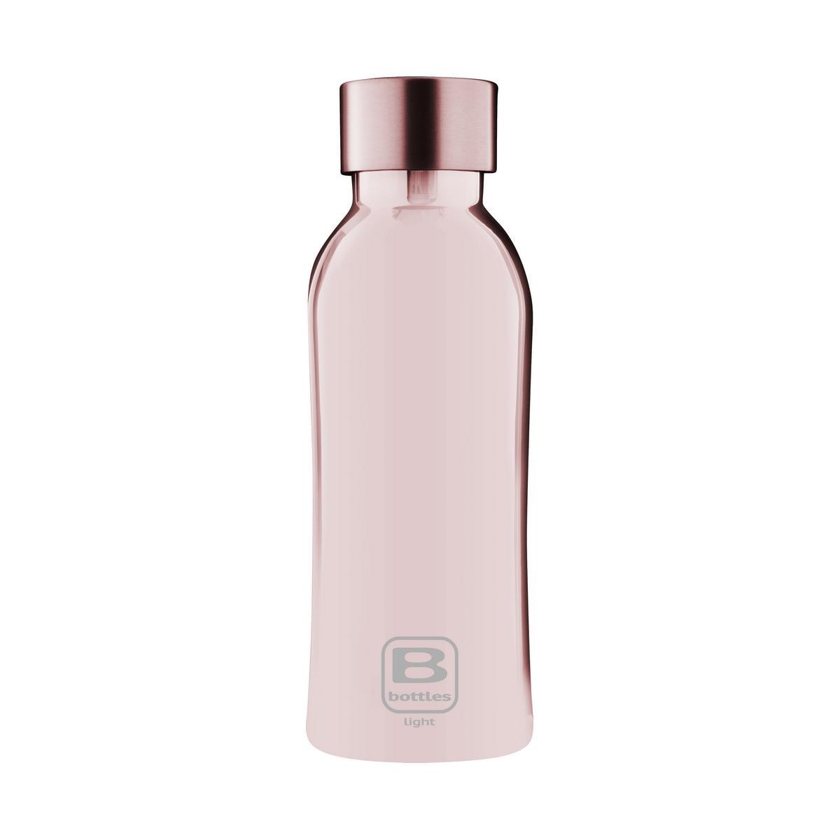 B Bottles Light - Rose Gold Lux - 530 ml - Bottiglia in acciaio inox 18/10 ultra leggera e compatta