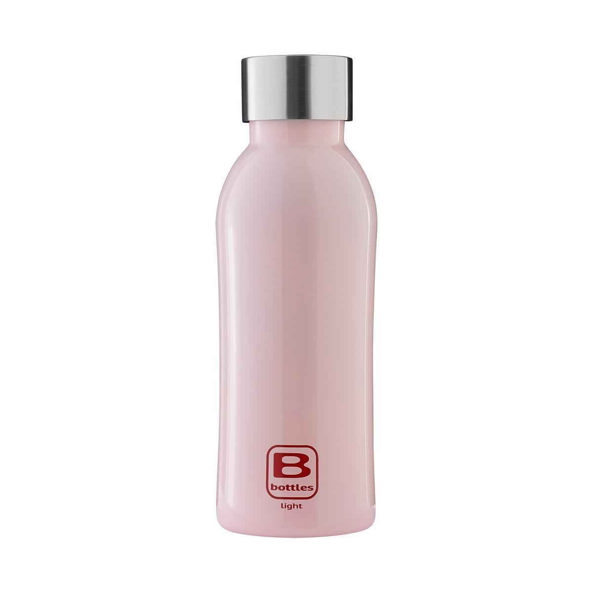 B Bottles Light - Pink - 530 ml - Bottiglia in acciaio inox 18/10 ultra leggera e compatta