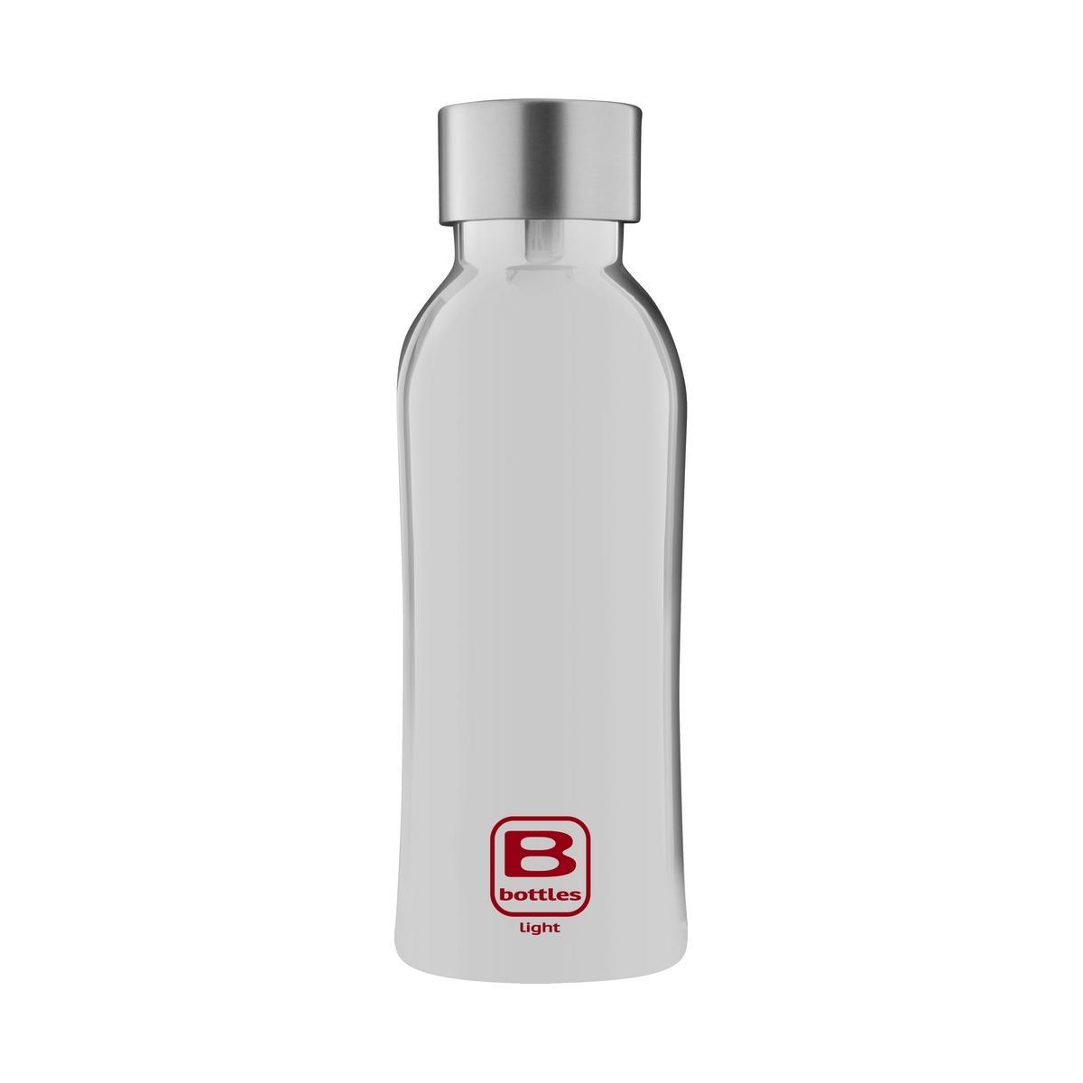 B Bottles Light - Silver Lux - 530 ml - Bottiglia in acciaio inox 18/10 ultra leggera e compatta