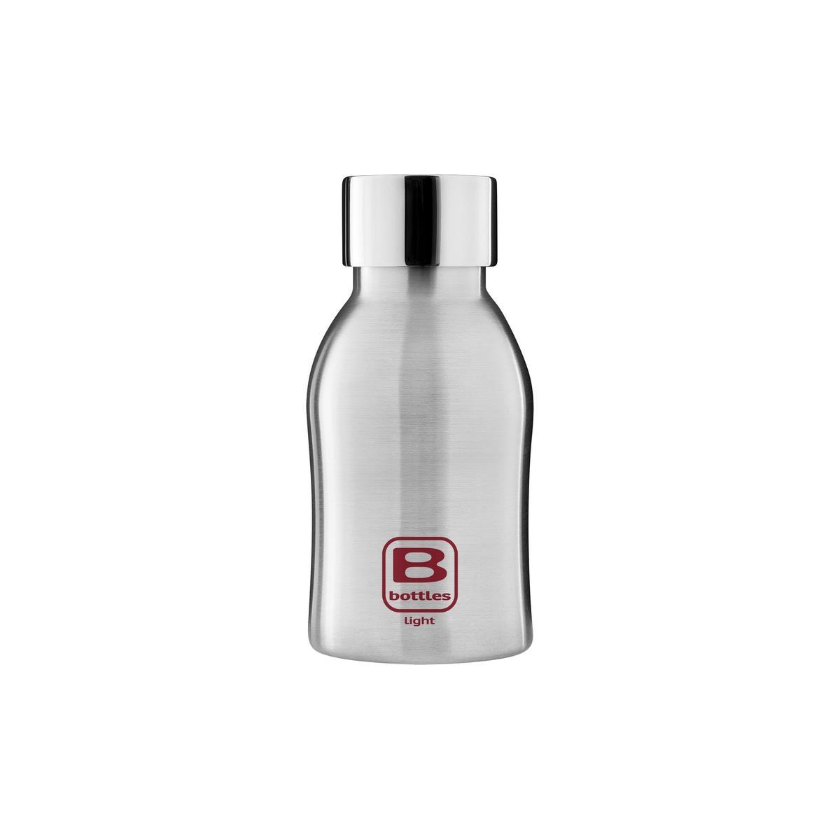 B Bottles Light - Steel Brushed - 350 ml - Bottiglia in acciaio inox 18/10 ultra leggera e compatta