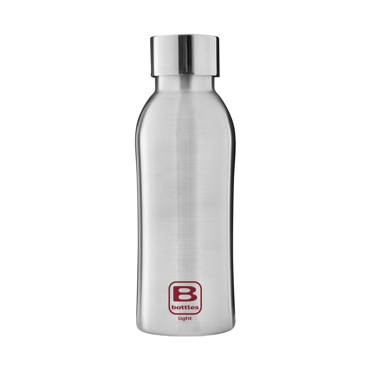 B Bottles Light - Steel Brushed - 530 ml - Bottiglia in acciaio inox 18/10 ultra leggera e compatta