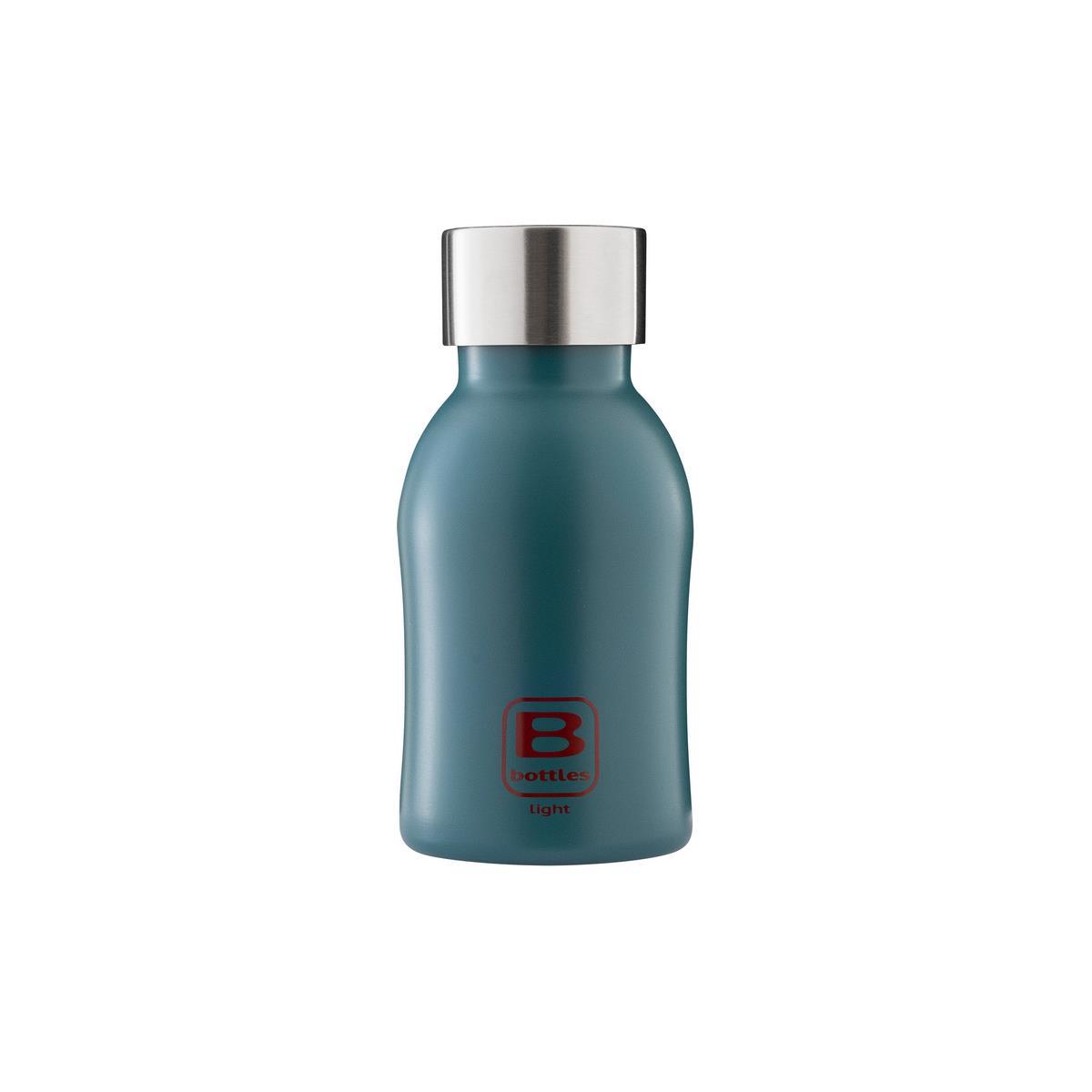 B Bottles Light - Teal Blue - 350 ml - Bottiglia in acciaio inox 18/10 ultra leggera e compatta