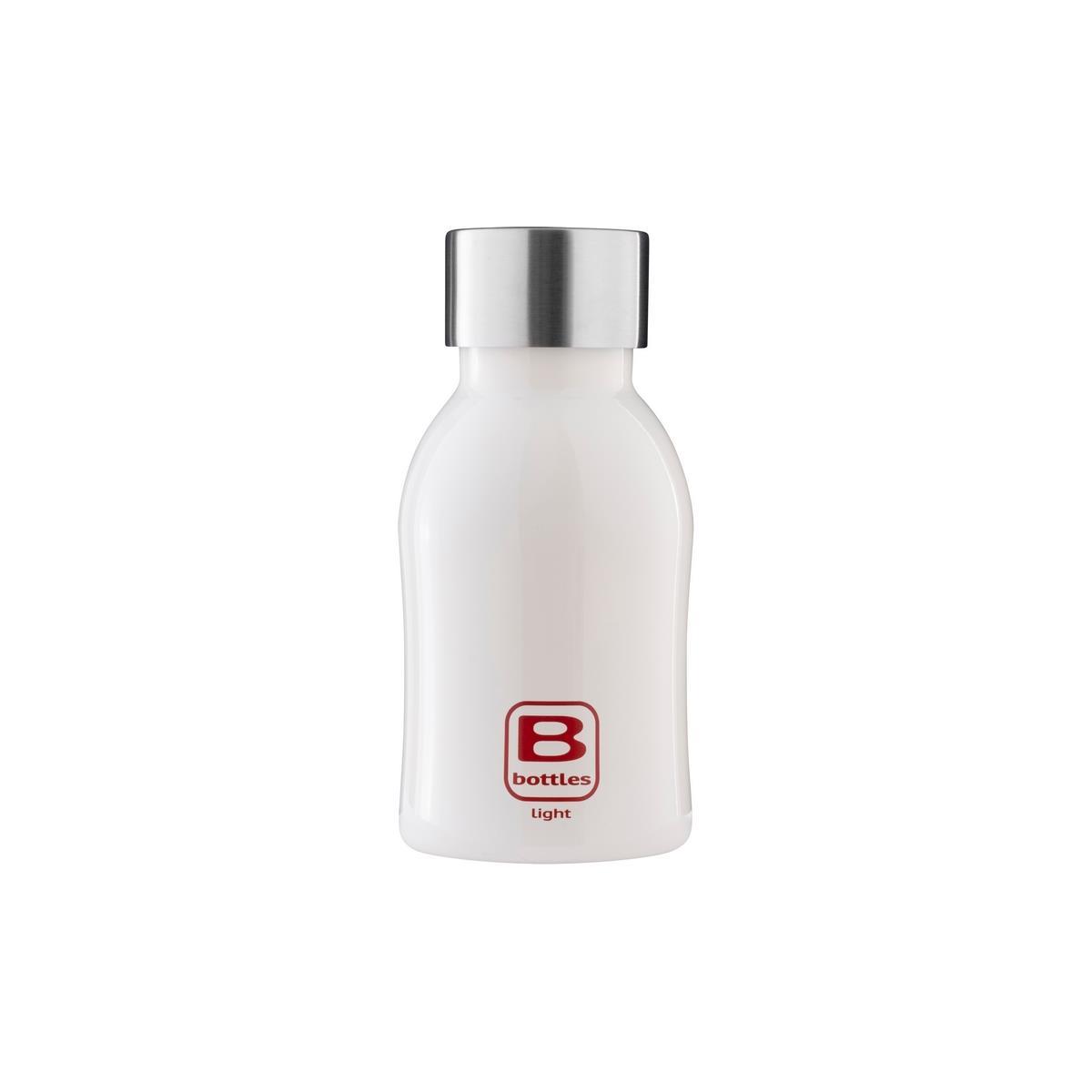B Bottles Light - Bianco Bright - 350 ml - Bottiglia in acciaio inox 18/10 ultra leggera e compatta
