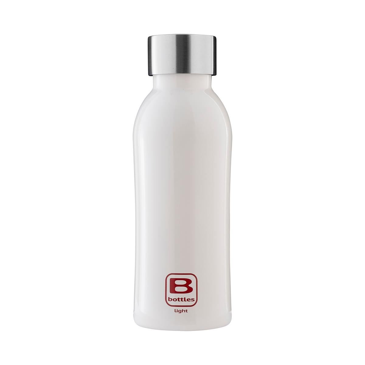 B Bottles Light - Bianco Bright - 530 ml - Bottiglia in acciaio inox 18/10 ultra leggera e compatta