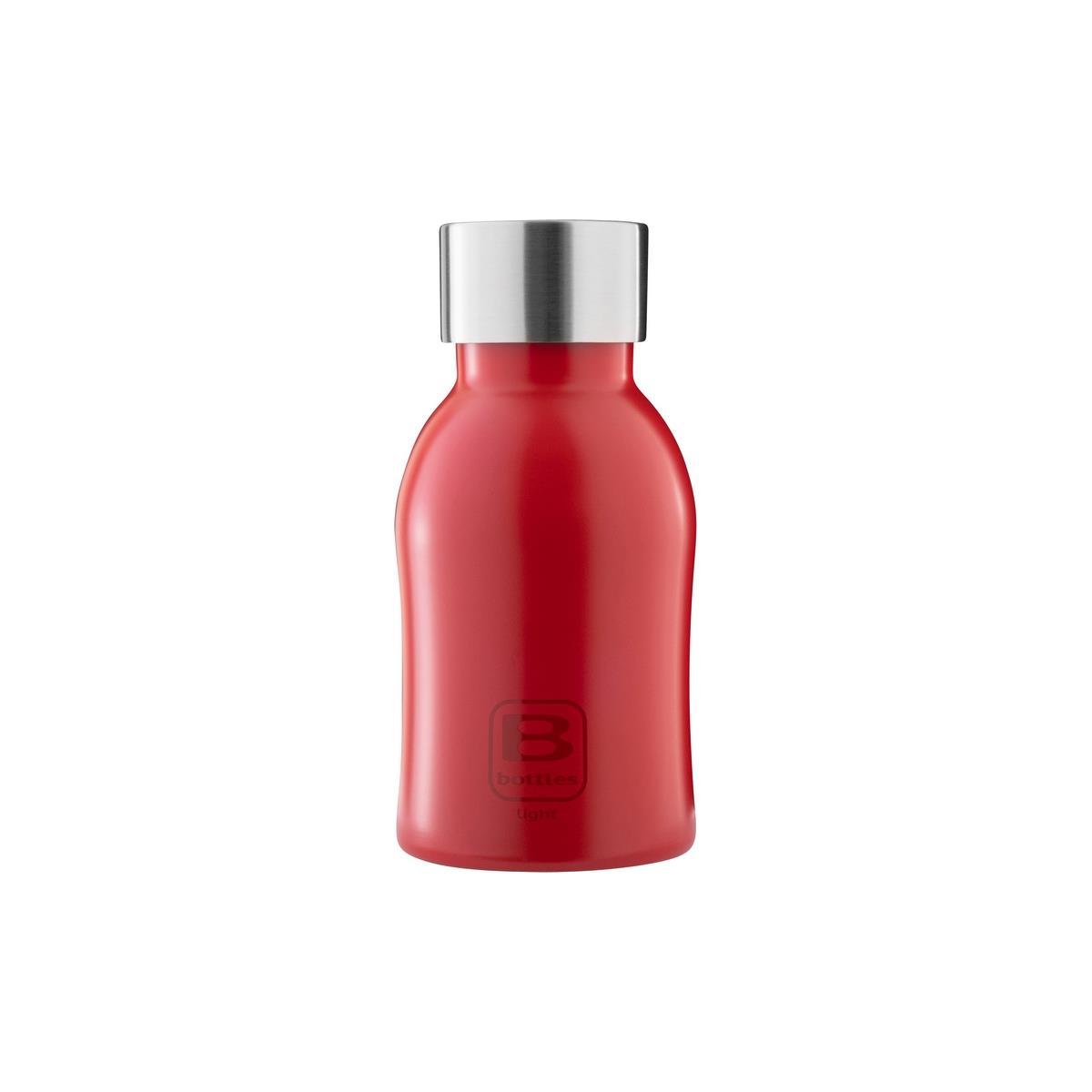 B Bottles Light - Rosso - 350 ml - Bottiglia in acciaio inox 18/10 ultra leggera e compatta