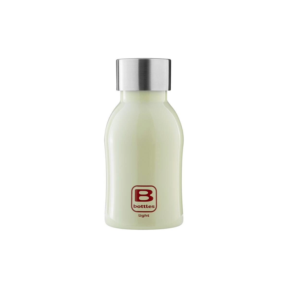 B Bottles Light - Light Green - 350 ml - Bottiglia in acciaio inox 18/10 ultra leggera e compatta