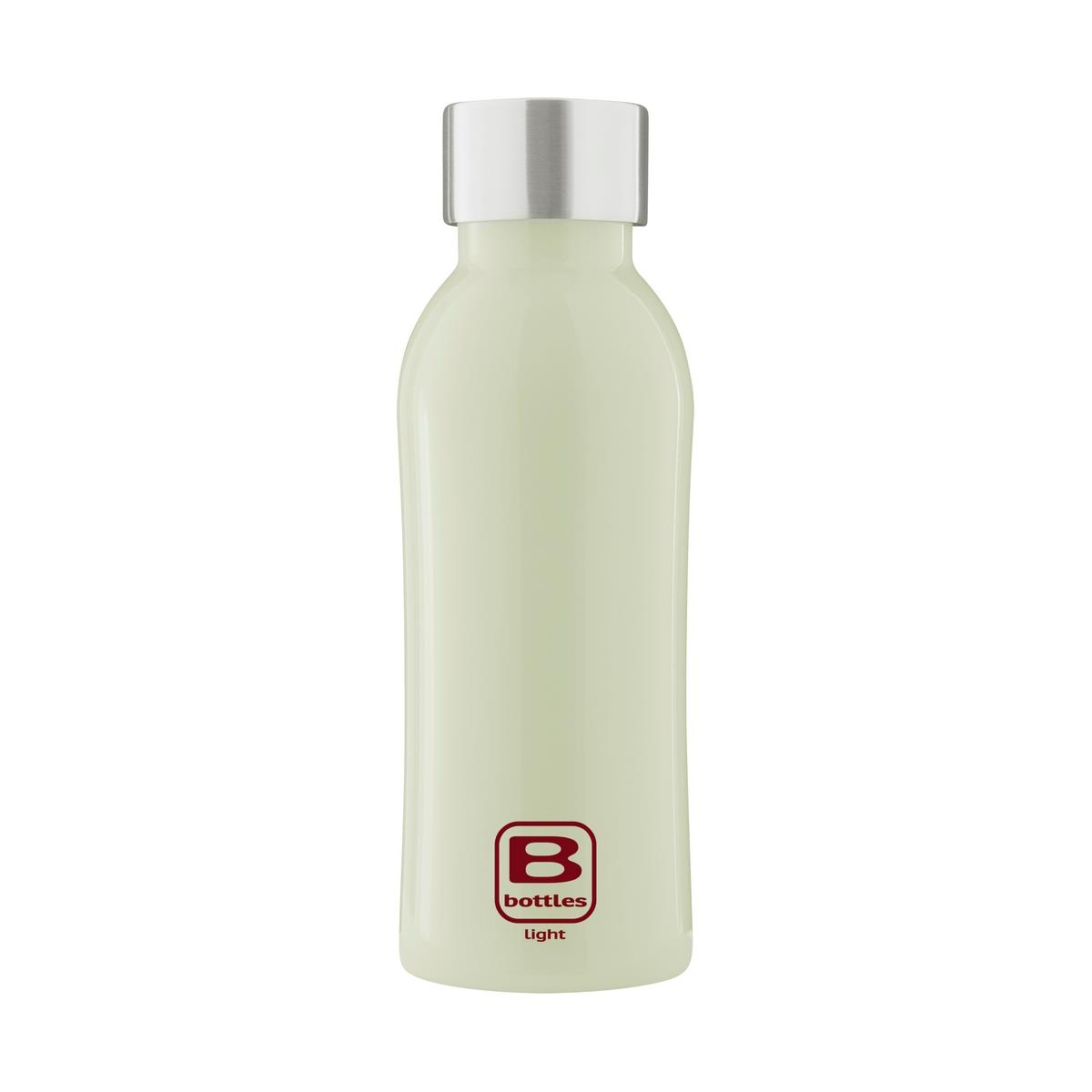 photo B Bottles Light - Light Green - 530 ml - Bottiglia in acciaio inox 18/10 ultra leggera e compatta