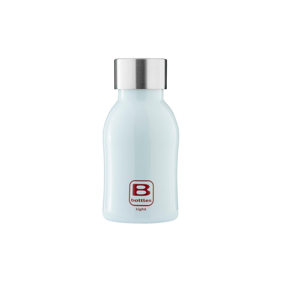 B Bottles Light - Light Blue - 350 ml - Bottiglia in acciaio inox 18/10 ultra leggera e compatta