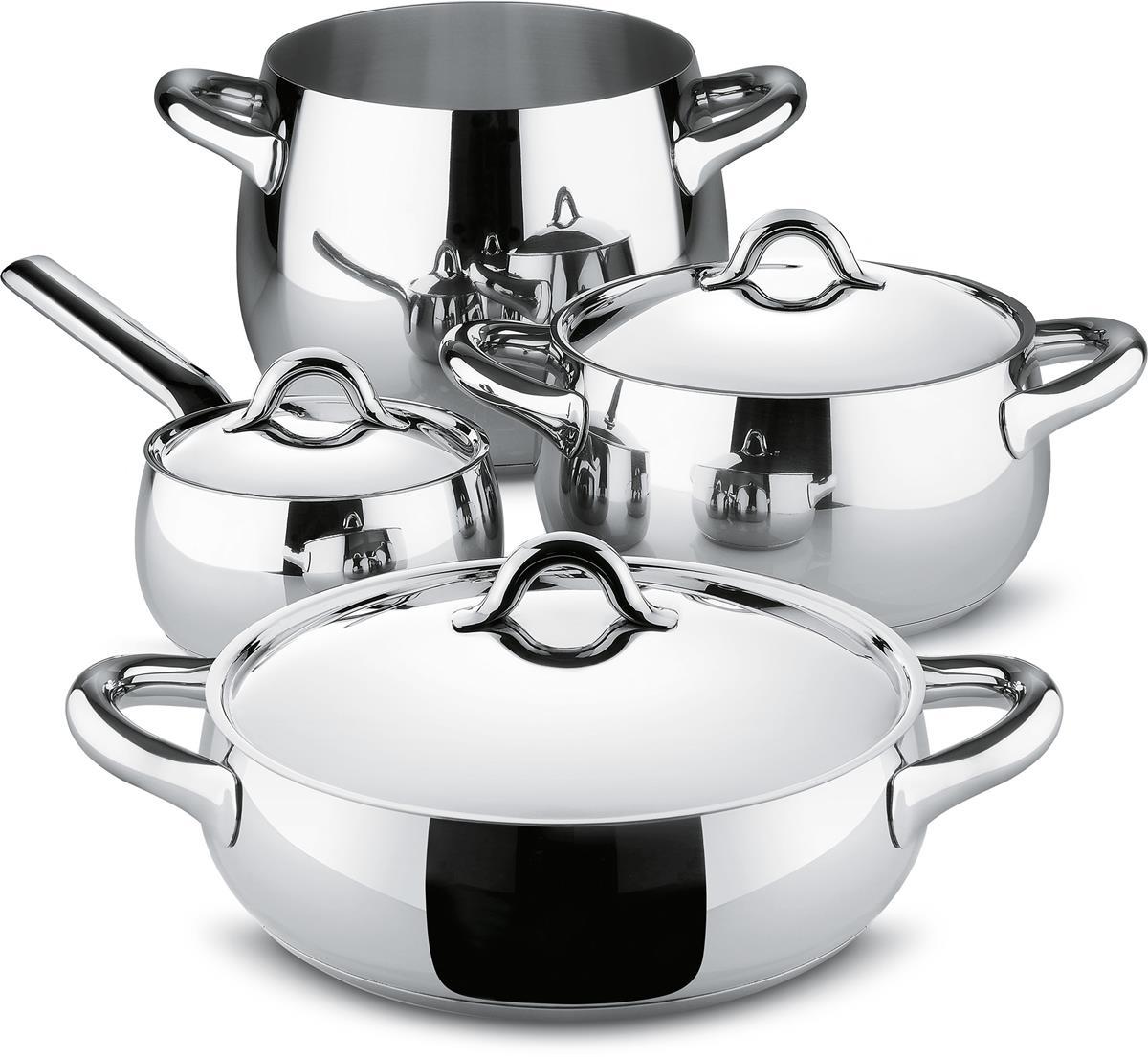 Alessi-7-piece Mami cookware set