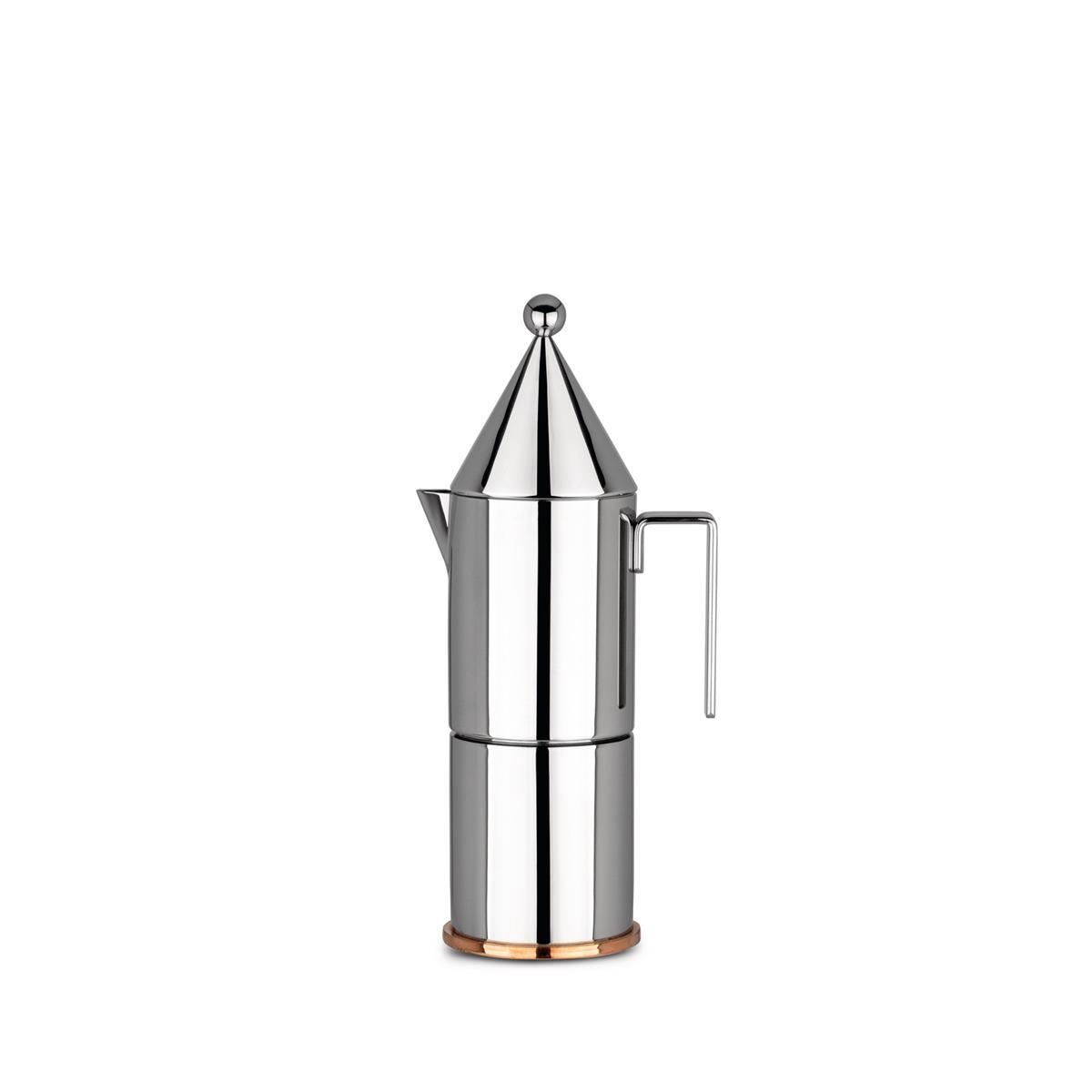 Alessi-La conica Espressomaschine aus Edelstahl 18/10 6 Tassen