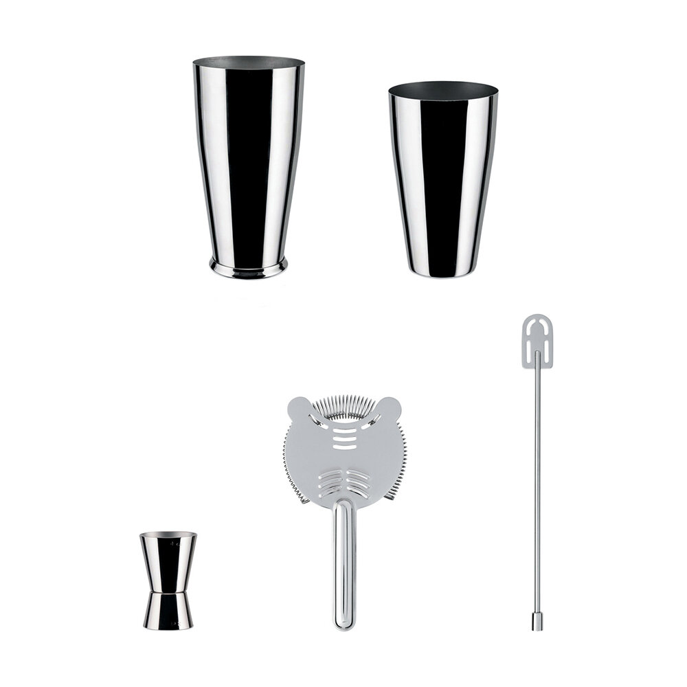 Alessi-Lunar Eclipse Set in 18/10 stainless steel