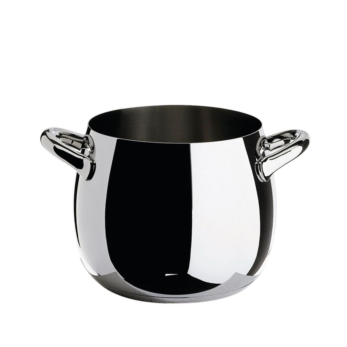 Alessi-Mami Pot in 18/10 stainless steel suitable for induction