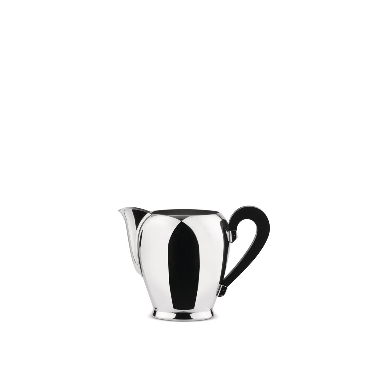 Alessi-Bombé Milk jug in 18/10 stainless steel mirror polished with bakelite handle