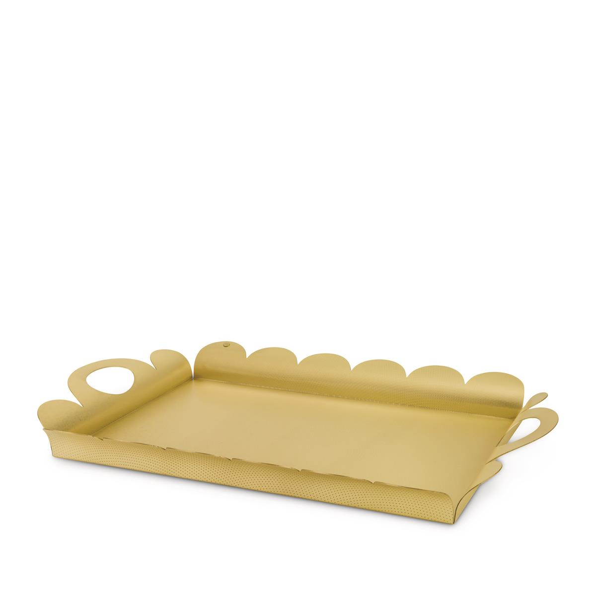 Alessi-Recinto Rectangular tray in 18/10 stainless steel mirror polished